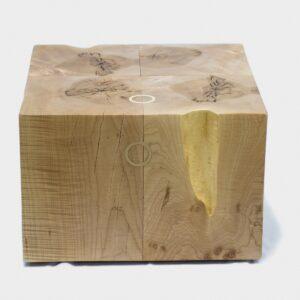 Custom funky chunk stump coffee table