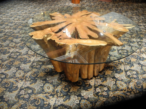 Custom funky chunk stump table