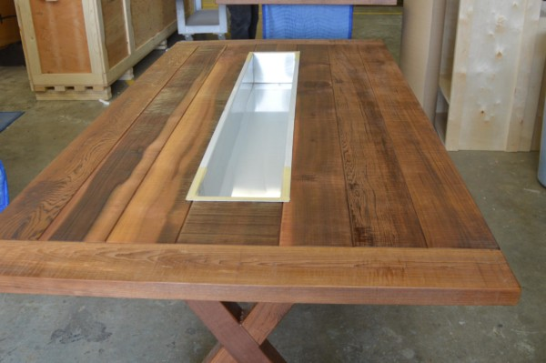 outdoor cedar picnic table for winery