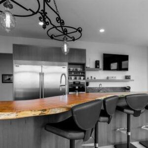 Maple live edge kitchen bar top