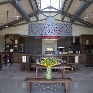 Custom solid wood tables for vineyard