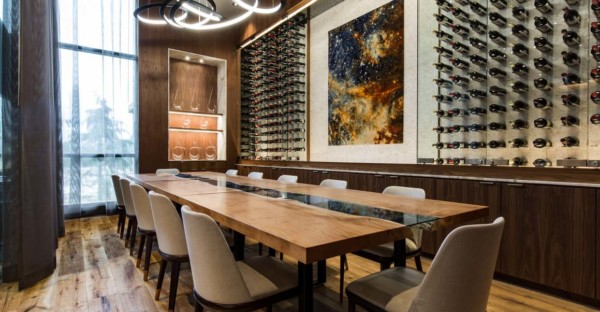live edge design contract custom furniture dining table for hospitality edmonton